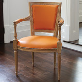 Global Views Marilyn Arm Chair-Orange Leather