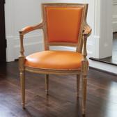Global Views Marilyn Arm Chair-Orange Leather