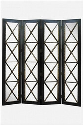 Accessories Abroad 4-PANEL BLACK MIRRORED SCREEN