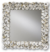 Currey and Company Oyster Shell Mirror Square