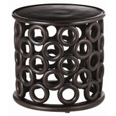 Arteriors Kamal Handcarved Wood Side Table