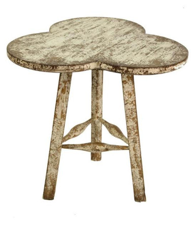 """Cream distressed finish with warm wood exposed 30"""" x 27.5"""""""