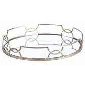 Arteriors Cinch waist Oval Iron Mirror Tray