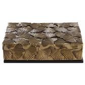 Arteriors Pru Brass Wood Lidded Box
