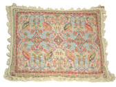 Linni Sisters Asian Rug Design Needlepoint Pillow
