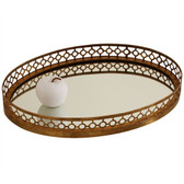 Arteriors Asher Oval Iron and Mirror Tray