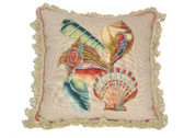Linni Sisters Shells Needlepoint Pillow I