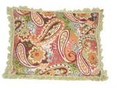 Linni Sisters Paisley Needlepoint Pillow