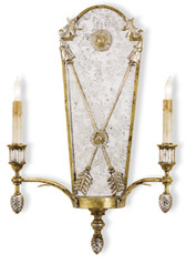 Currey and Company Napoli Wall Sconce, 2 Light