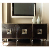 "Global Views Artisan Media cabinet Wood and Metal 70.5""  wide 34.5""  high  24.75""  deep"