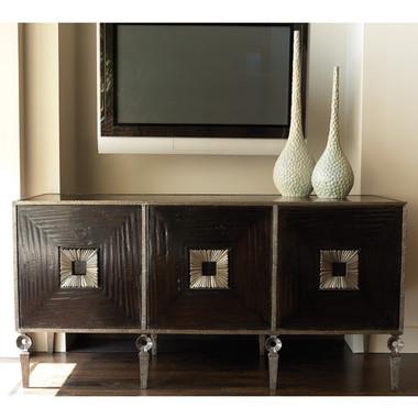 "Global Views Artisan Media cabinet Wood and Metal 70.5""  wide 34.5""  high  24.75""  deep"