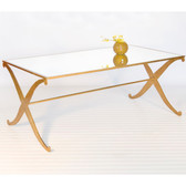 Worlds Away Klysmos Gold Leafed Coffee Table