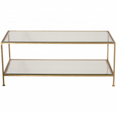 Worlds Away Taylor Rectangular Coffee Table in Gold Leaf