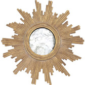 Worlds Away Versailles Mirror in Gold Leaf with Antique Mirror