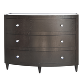 Worlds Away Natalie Dark Chocolate Oak Veneer Curved Front Dresser