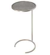 Worlds Away Monaco Round Cigar Table in Silver Leaf