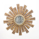 Worlds Away Rinaldo Starburst Mirror in Gold Leaf
