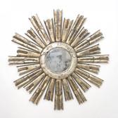 Worlds Away Rinaldo Starburst Mirror in Silver Leaf