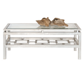 Worlds Away Pierre Silver Leafed Coffee Table