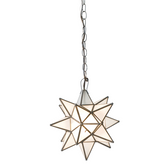 Worlds Away Frosted Star Chandelier-Large