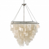 Worlds Away Capiz Shell Square Chandelier