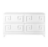 Worlds Away Werstler White Lacquer 4 Drawer Dresser