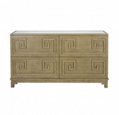 Worlds Away Werstler Limed Oak 4 Drawer Dresser