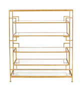 Worlds Away Doris Gold Leafed Etagere