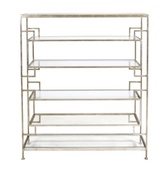 Worlds Away Doris Silver Leafed Etagere