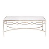 Worlds Away Grace Silver Leafed Coffee Table