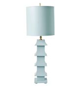 Worlds Away Pagoda Lamp in Blue