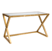Worlds Away Mark Gold Leafed Desk Console