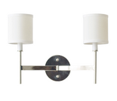 Worlds Away Randolph 2 Arm Sconce in Nickel Plate