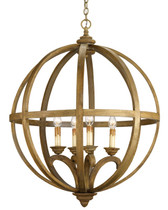 Currey and Co Axel Orb Chandelier
