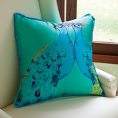 Global Views Bassett Hall Aqua Peacock Pillow