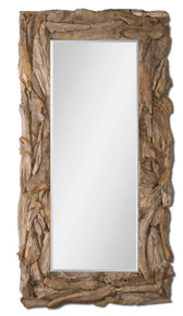 Uttermost Teak Root Floor Mirror