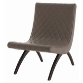 Arteriors Danforth Dove Quilted Leather Chair