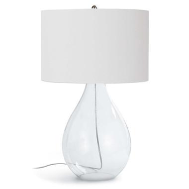 Height: 29 Width: 18 Depth: 18 Shade: 18 x 18 x 11 Wattage: 3-Way 150 Watt Max Bulb Qty: 1 Bulb Type: A Type Medium Base (E26) Socket: E26 3-Way Turn Knob Wiring Type: Standard Cord: 8 feet Material: Glass Finish: Clear