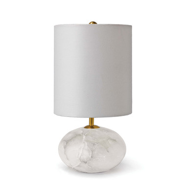 Height: 16 Width: 8 Depth: 8 Shade: 8 x 8 x 9 Wattage: 60 Max Bulb Qty: 1 Bulb Type: B Type Candelabra Base (E12) Socket: E12 Candelabra Wiring Type: Standard Cord: 8 feet Material: Alabaster Finish: Natural