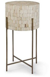 Regina Andrew Modern Drum Table In Anitque Brass