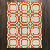 Global Views Arabesque Rug-Coral