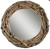 Uttermost Teak Root Mirror-Large