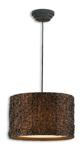 Uttermost Knotted Rattan Hanging Shade