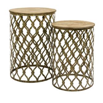 """Maridell Nesting Tables, 22.5"""" - 26.5"""" High X 15.75"""" - 18.5"""" diameter"""