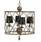 Old World Design Open Basket Weave Chandelier