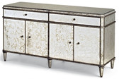 Currey and Co. Antiqued Mirror Credenza