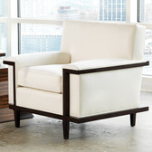 "Global Views Lucy Chair Dimensions: 37""W x 34""H x 32""D *Oversized Item, White Glove Delivery, Crated"