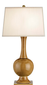 Currey and Co. Downtown Table Lamp, Brown