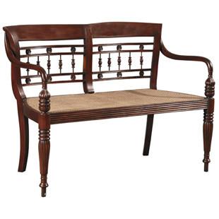 Furniture Classics, Ltd. Dutch Bench Dimensions: 33 x 46 Walnut Brown Finish on Mahogany