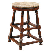 Furniture Classics, Ltd. Baluster Counter Stool Dimensions: 24 x 16 x 16 Walnut Brown Finish on Mahogany